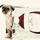 Santa Dog by susan stone