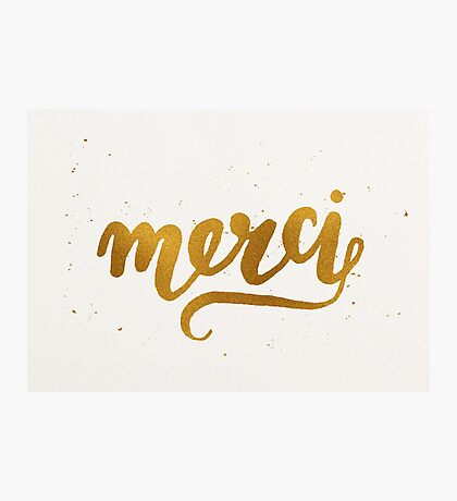 Merci Photographic Print