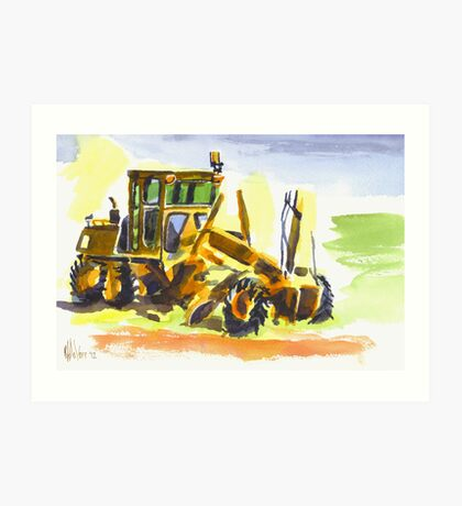 Roadmaster in Watercolor Art Print