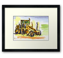 Roadmaster in Watercolor Framed Print