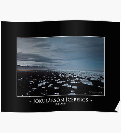 Jokularson Icebergs Poster