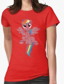 I am a brony because... Womens Fitted T-Shirt
