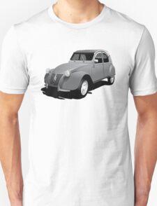 Citroën 2CV deux chevaux gray illustration T-Shirt
