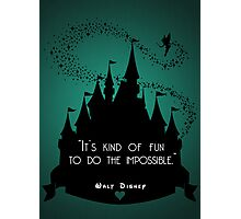 Disney Princess Castle Quote Photographic Print
