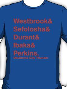 2011-2012 Oklahoma City Thunder Jetset T-Shirt