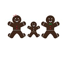 Gingerbread family Photographic Print
