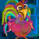 Night Shift Rooster, by Alma Lee by Alma Lee