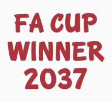 FA Cup Winner 2037 - Red One Piece - Short Sleeve