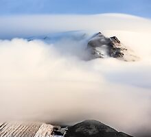 Mount Hood under a Lenticular Cloud by Jim Stiles