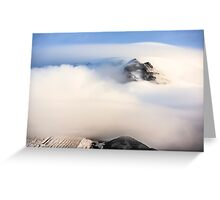 Mount Hood under a Lenticular Cloud Greeting Card
