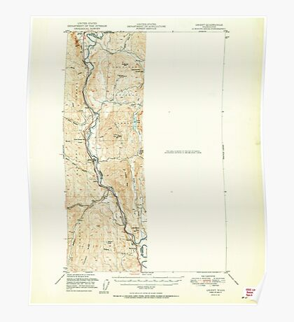 USGS Topo Map Washington State WA Orient 242988 1951 62500 Poster