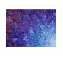 SCALES OF A DIFFERENT COLOR - Abstract Acrylic Painting Eggplant Sea Scales Ocean Waves Colorful Art Print
