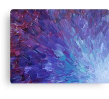 SCALES OF A DIFFERENT COLOR - Abstract Acrylic Painting Eggplant Sea Scales Ocean Waves Colorful Metal Print