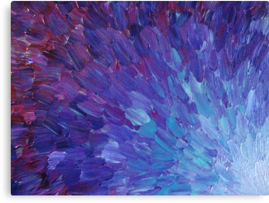 Scales Of A Different Color Abstract Acrylic Painting