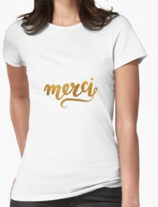Merci Womens Fitted T-Shirt