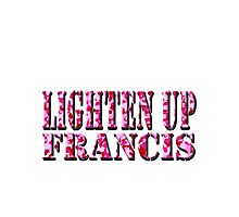 LIGHTEN UP FRANCIS - pink camo Photographic Print