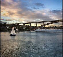 Sailing Towards Gladesville Bridge by Bradley Smith