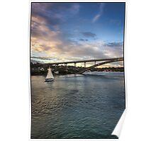 Sailing Towards Gladesville Bridge Poster