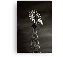 B&W Windmill Canvas Print