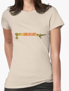 Troy and Abed Shooting Lava! Womens Fitted T-Shirt