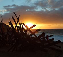 Sculptures By The Sea Sunrise by Ann Barnes