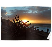 Sculptures By The Sea Sunrise Poster