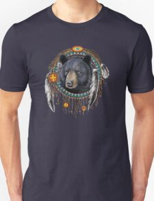 BLACK BEAR NATIVE AMERICAN DREAM  T-Shirt