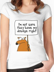 I'm not sure... Women's Fitted Scoop T-Shirt