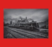 46100 Royal Scot  - Black and White Version Baby Tee
