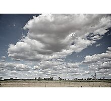 Long white cloud - Tongala Photographic Print