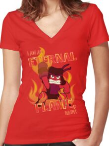 Eternal Flame Baby Women's Fitted V-Neck T-Shirt