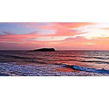 Cook Island Red sunrise Photographic Print