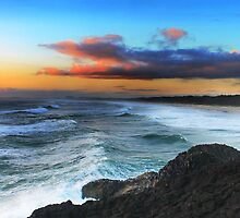 Dream Time Beach Sunrise by Ron Finkel