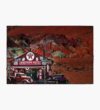 Western Auto In Death Valley Photographic Print