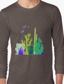 Green Cacti Watercolour & Bats Long Sleeve T-Shirt