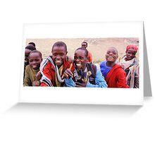 Kenyan boys Greeting Card