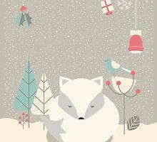 Christmas baby fox 05 by BlueLela