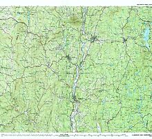 USGS TOPO Map New Hampshire NH Claremont 330399 1985 100000 by wetdryvac