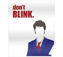 Don't Blink - 10th Doctor Poster