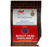 Beachy Head Chaplaincy sign Poster