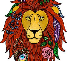 Floral Lion Head by mitchman5