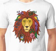 Floral Lion Head Unisex T-Shirt