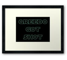 Greedo Got Shot Framed Print