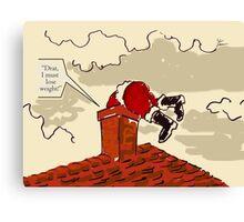 Lose weight Santa Claus Canvas Print