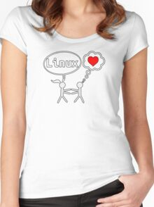 Linux Lover Women's Fitted Scoop T-Shirt