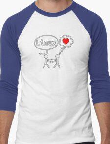 Linux Lover Men's Baseball ¾ T-Shirt