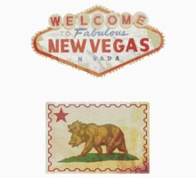 NCR - New Vegas - Gaming Luggage Labels by A.J.  Hateley
