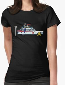 Ghostbusters Cadillac Wheel Clamp  Womens Fitted T-Shirt