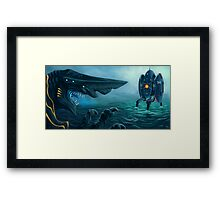 Danger in the Pacific! Framed Print