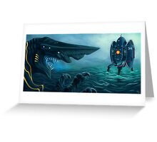 Danger in the Pacific! Greeting Card